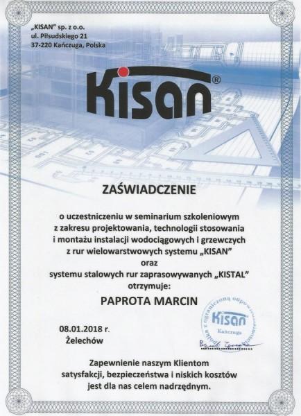 certyfikat-2017-KISAN