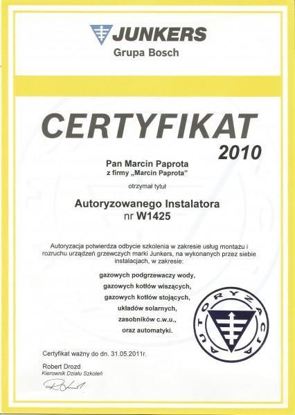 certyfikat-2010-Macin-Paprota