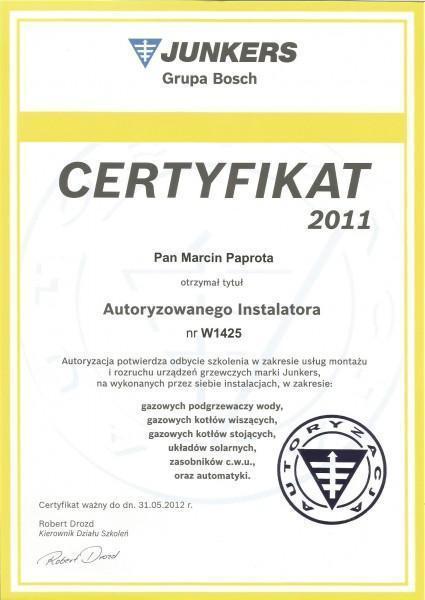 certyfikat-2011-Macin-Paprota
