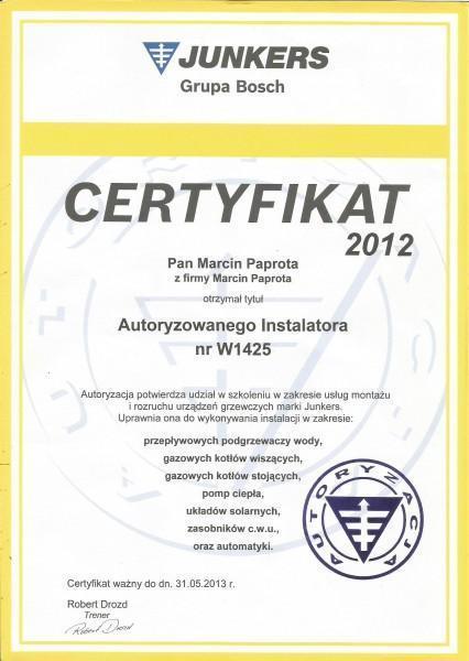 certyfikat-2012-Macin-Paprota