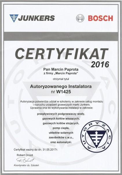 certyfikat-2016-Marcin-Paprota
